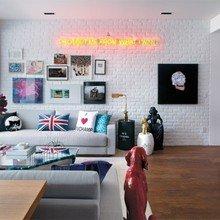 Фотография: Гостиная в стиле Лофт, Декор интерьера, Дом, Дизайн интерьера, Цвет в интерьере – фото на InMyRoom.ru