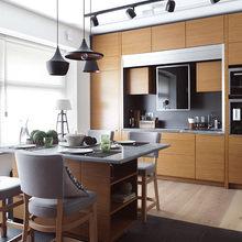 Фотография: Кухня и столовая в стиле Лофт, Малогабаритная квартира, Квартира, Дома и квартиры, Проект недели, Надя Зотова – фото на InMyRoom.ru