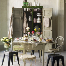 Фотография: Кухня и столовая в стиле Кантри, Декор интерьера, Дом, Цвет в интерьере, Дома и квартиры, Синий – фото на InMyRoom.ru