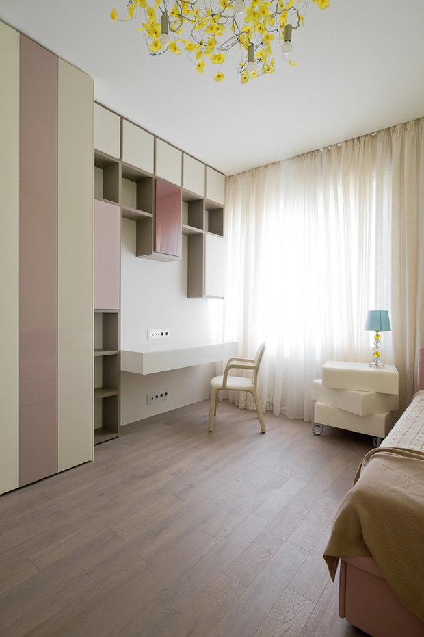 Фотография: Спальня в стиле Минимализм, Классический, Квартира, Проект недели, Москва, Бежевый – фото на InMyRoom.ru