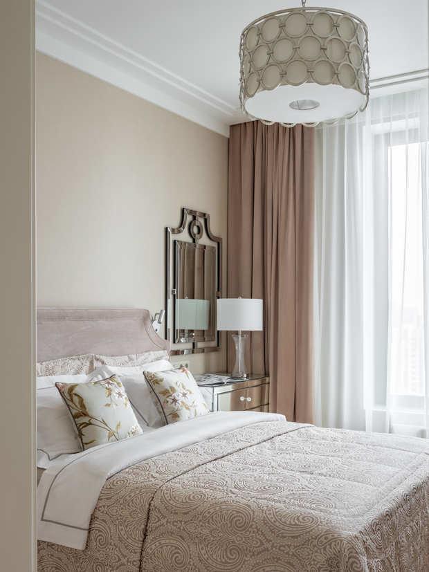 Фотография: Спальня в стиле Классический, Современный, Квартира, Проект недели, Москва, 4 и больше, Более 90 метров, Алена Чмелева – фото на INMYROOM