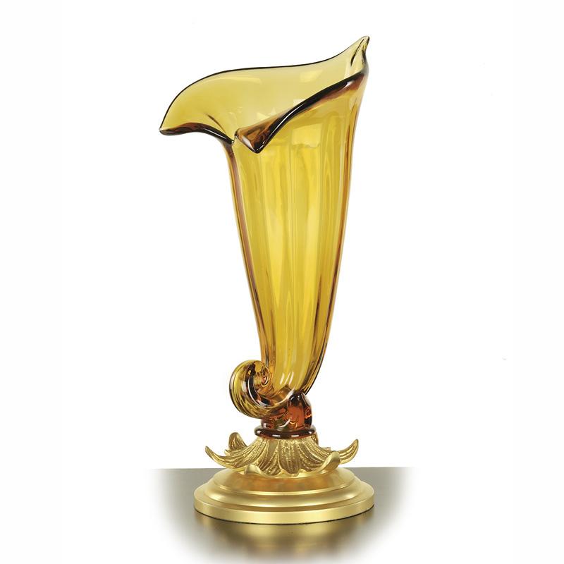 Купить Ваза Antonio Ciulli из металла золотого цвета 40x20x19 см, inmyroom, Италия