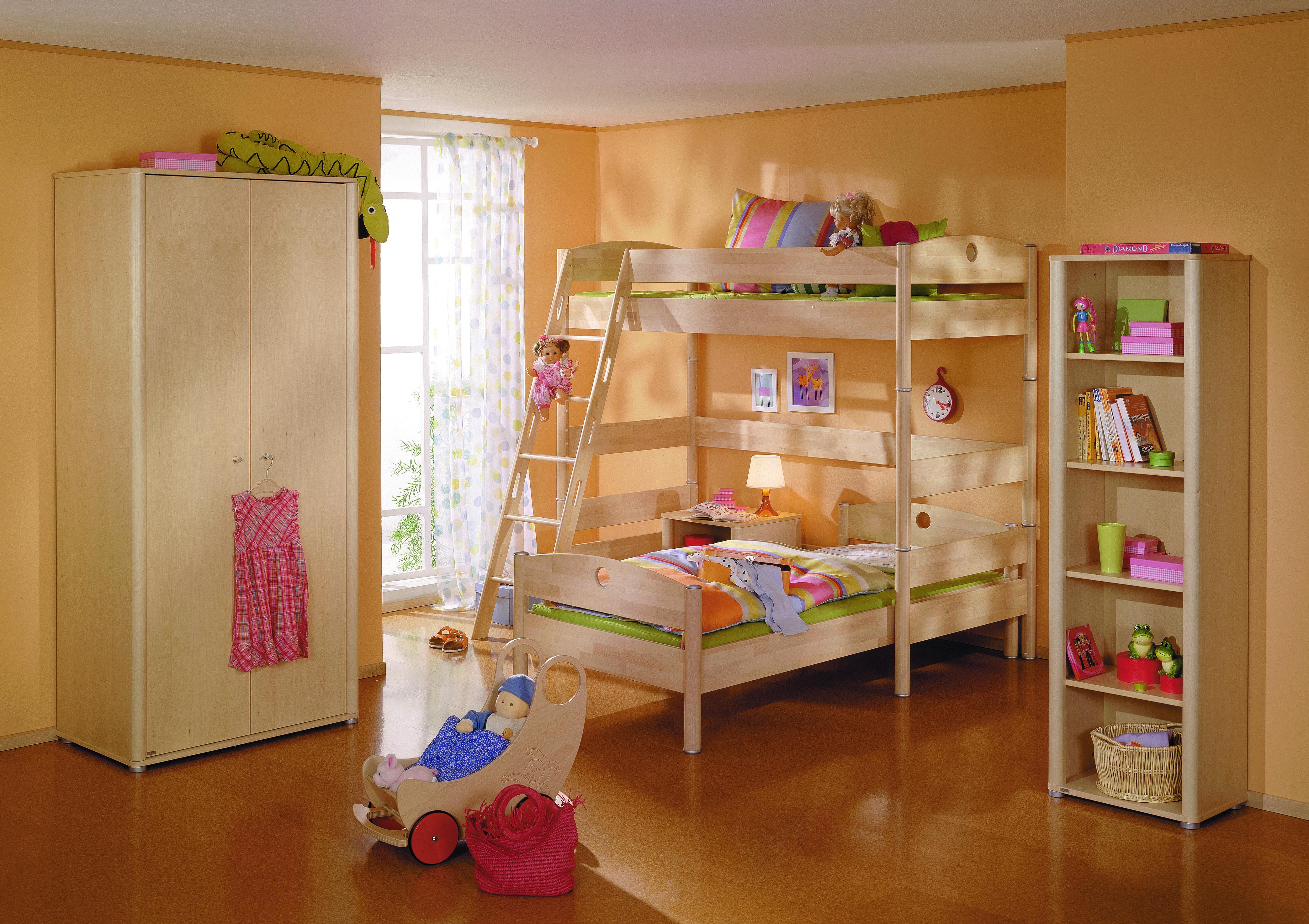 """Двухъярусная кровать Paidi """"Fleximo"""" с прямой лестницей 90х200 см"""