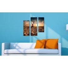 Интерьерная модульная картина на стену: Погибшее дерево