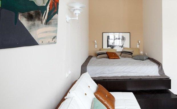 Фотография: Спальня в стиле Современный, Малогабаритная квартира, Квартира, Дома и квартиры, Перепланировка – фото на InMyRoom.ru
