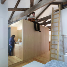 Фотография:  в стиле Современный, Малогабаритная квартира, Квартира, Цвет в интерьере, Дома и квартиры, Белый, Переделка – фото на InMyRoom.ru