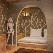 Фотография: Спальня в стиле Кантри, Современный, Малогабаритная квартира, Квартира, Дома и квартиры – фото на InMyRoom.ru