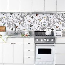 Фотография: Кухня и столовая в стиле Скандинавский, Советы, Мозаика, Декоративная штукатурка, Кухонный фартук, керамическая плитка, мозаика на кухне, клинкерная плитка, кирпичный клинкер, стекло фартук – фото на InMyRoom.ru