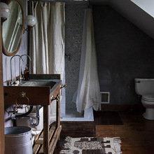 Фотография: Ванная в стиле Кантри, Дом, Переделка, Дом и дача – фото на InMyRoom.ru