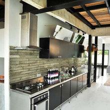 Фотография: Кухня и столовая в стиле Лофт, Декор интерьера, Интерьер комнат, Плитка – фото на InMyRoom.ru