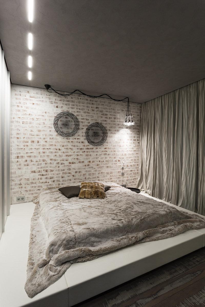 Фотография: Спальня в стиле Лофт, Квартира, Дома и квартиры, Минимализм – фото на InMyRoom.ru