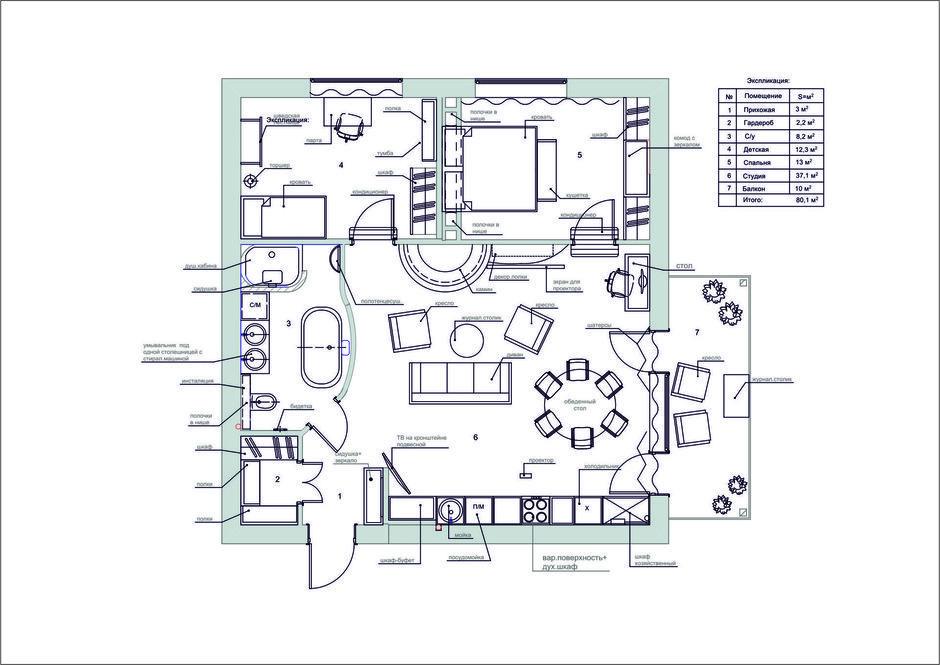 Фотография: Прочее в стиле , Квартира, Дома и квартиры, Проект недели, Средиземноморский – фото на InMyRoom.ru
