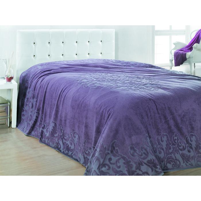 Покрывало махровое бамбуковое RAVENNA 220х240 пурпурное