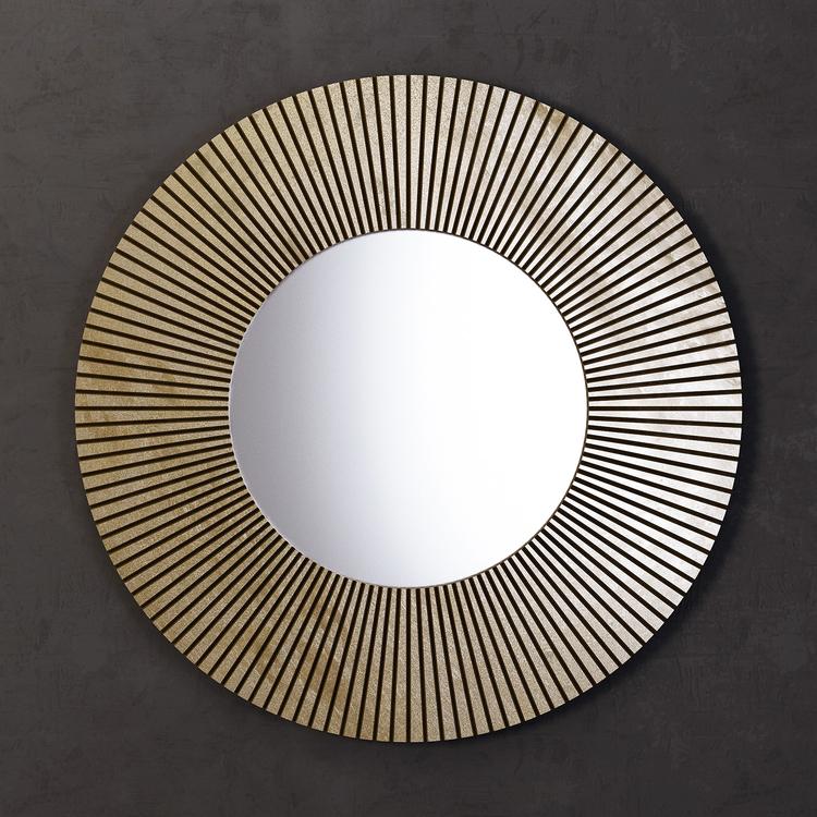 Купить Зеркало круглое Sunshine золотого цвета, inmyroom, Россия