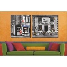 Диптих на стену: Аллея покупок