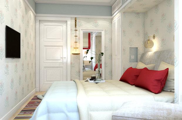 Фотография: Спальня в стиле Восточный, Квартира, Проект недели, Марина Саркисян, Московская область, 3 комнаты, 60-90 метров, Монолитно-кирпичный – фото на INMYROOM