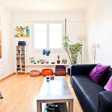 Фотография: Гостиная в стиле Скандинавский, Современный, Квартира, Дома и квартиры, Барселона – фото на InMyRoom.ru