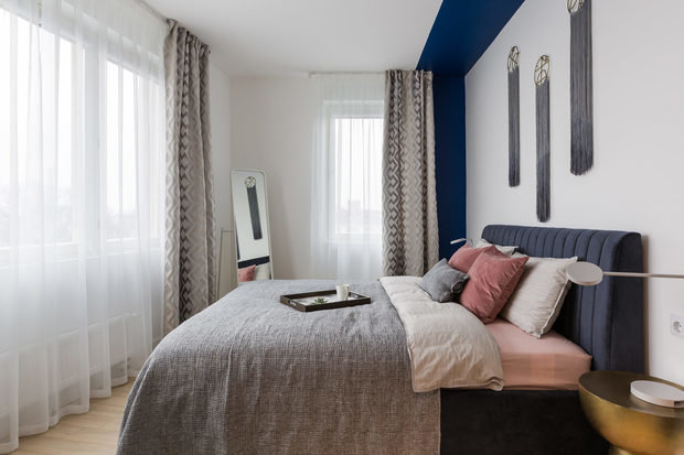 Фотография: Спальня в стиле Современный, Квартира, Проект недели, Санкт-Петербург, Ульяна Скапцова, 2 комнаты, 40-60 метров, US Interior – фото на INMYROOM