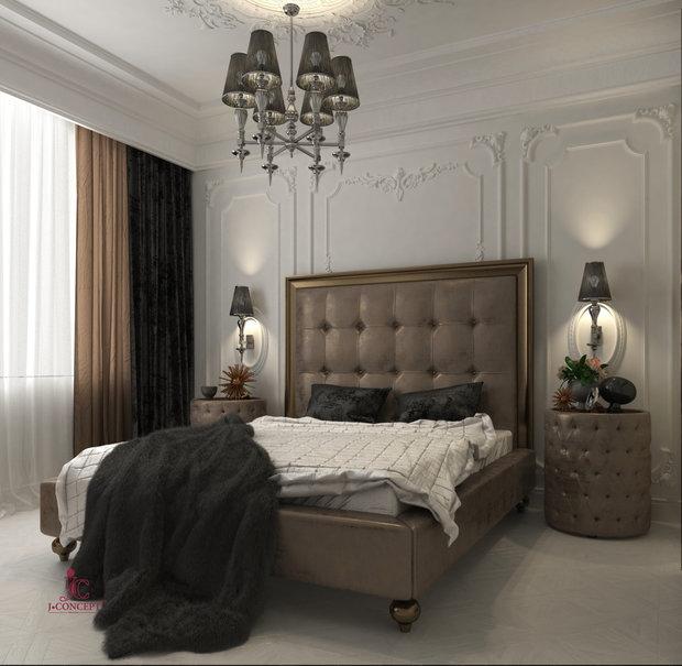 Как Вам неоклассический стиль в интерьере спальни?
