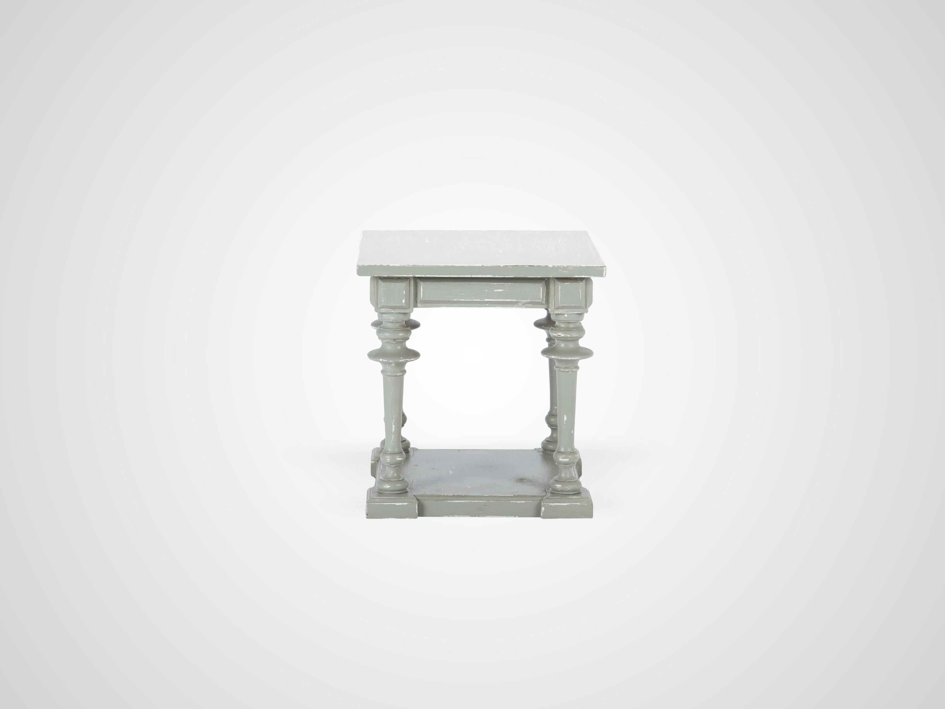 Купить Ламповый столик на резных ножках из дерева махагони 61x58x58 см, inmyroom, Индонезия