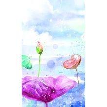 "Триптих на холсте ""Дюймовочка в цветах"""