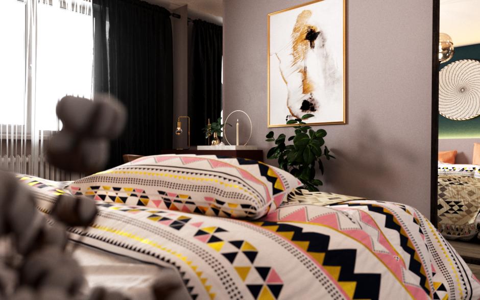 Фотография: Спальня в стиле Современный, Квартира, Проект недели, Санкт-Петербург, Монолитный дом, 3 комнаты, 60-90 метров, Анастасия Шабельская – фото на InMyRoom.ru