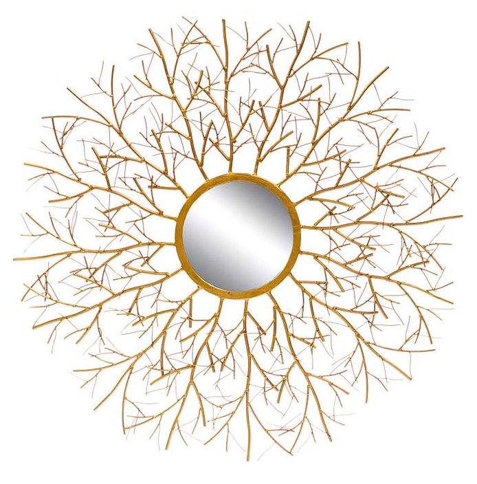 Купить Настенное зеркало Vesta в декоративной раме золотого цвета, inmyroom, Китай