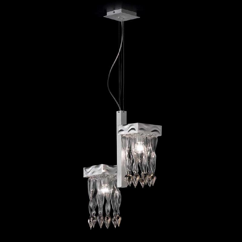 Купить Подвесной светильник Lamp di Volpato Patrizia Alaska с декорированными спиралями из прозрачного стекла, inmyroom, Италия