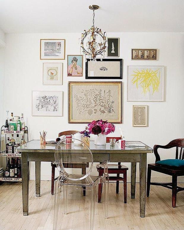 Фотография: Кухня и столовая в стиле Эклектика, Декор интерьера, Советы, стекло в интерьере, пластик в интерьере, интерьерный тренд, тенденция – фото на InMyRoom.ru