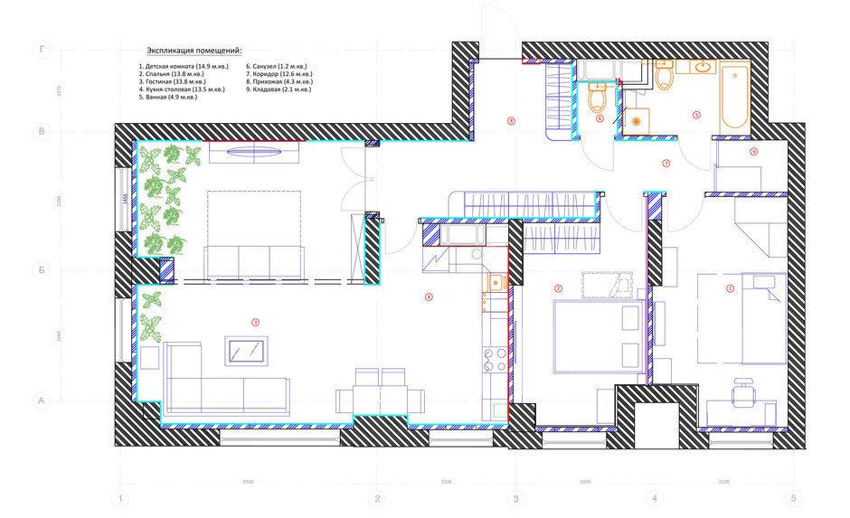 Фотография: Планировки в стиле , Квартира, Проект недели, Москва, Монолитный дом, 3 комнаты, Более 90 метров, ЖК «Богородский», Дарья Лукина – фото на InMyRoom.ru