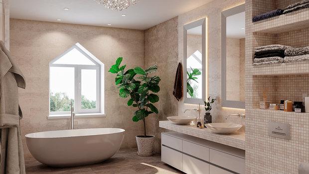 Фото из портфолио Bathroom in private house – фотографии дизайна интерьеров на INMYROOM