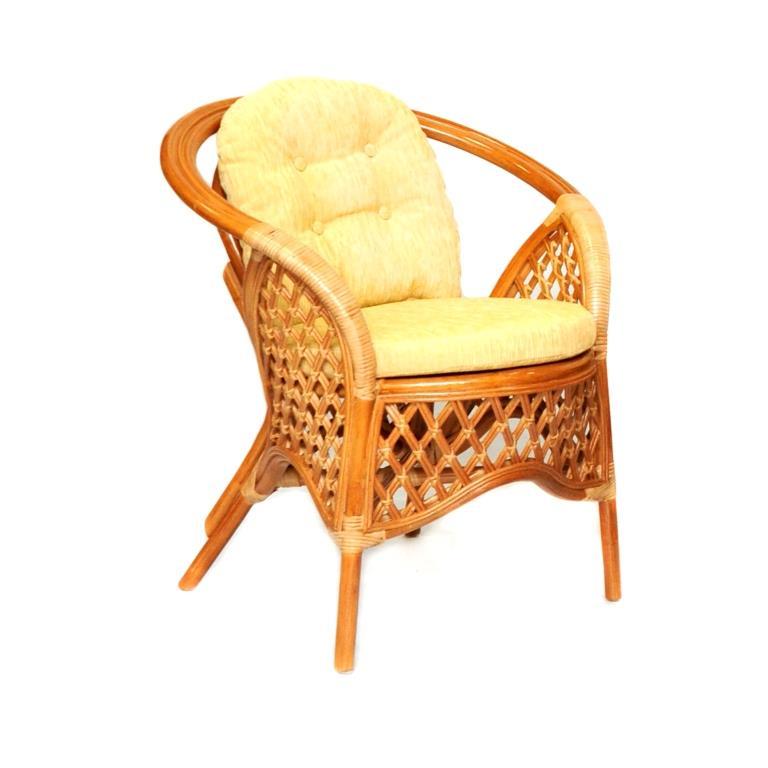 Кресло Melang из ротанга с ажурным плетением