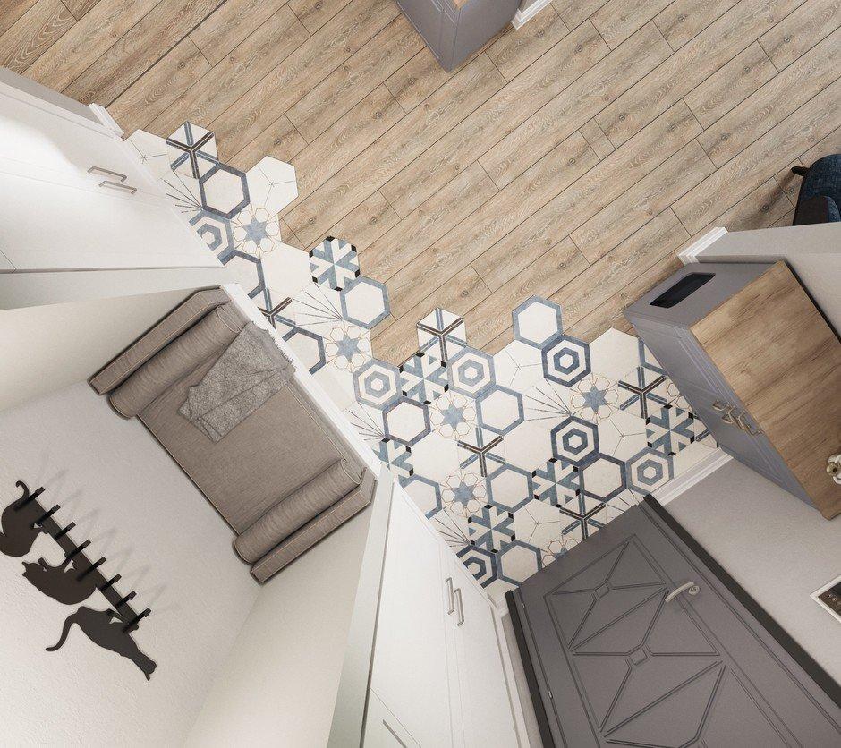 Фотография:  в стиле , Квартира, Проект недели, Московская область, Ольга Розина, 2 комнаты, 60-90 метров, Монолитно-кирпичный – фото на InMyRoom.ru