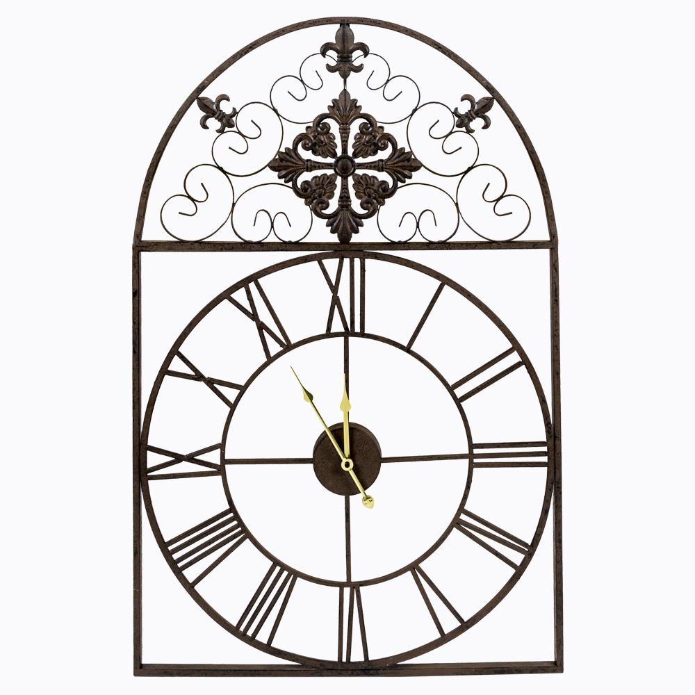 """Часы настенные """"Кружево небес"""" античный черный"""
