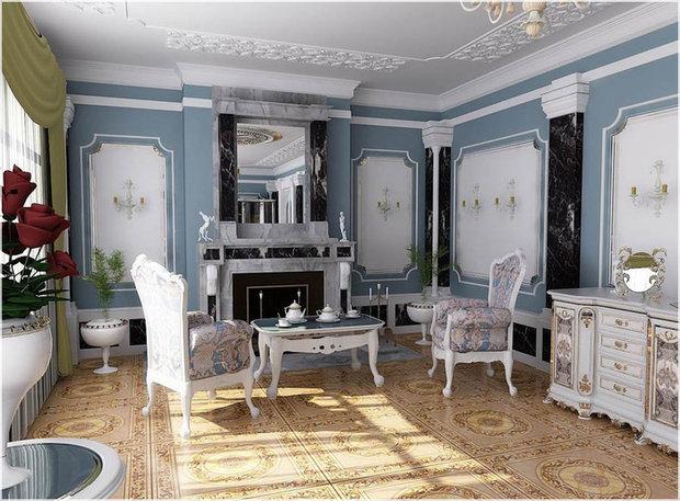 Фотография: Гостиная в стиле Классический, Франция, Интерьер комнат, Интерьерная Лавка – фото на InMyRoom.ru