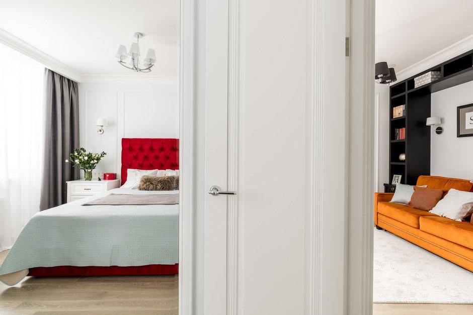 Фотография: Спальня в стиле Классический, Современный, Квартира, Проект недели, Москва, Монолитный дом, 2 комнаты, 40-60 метров, Наталья Широкорад – фото на InMyRoom.ru