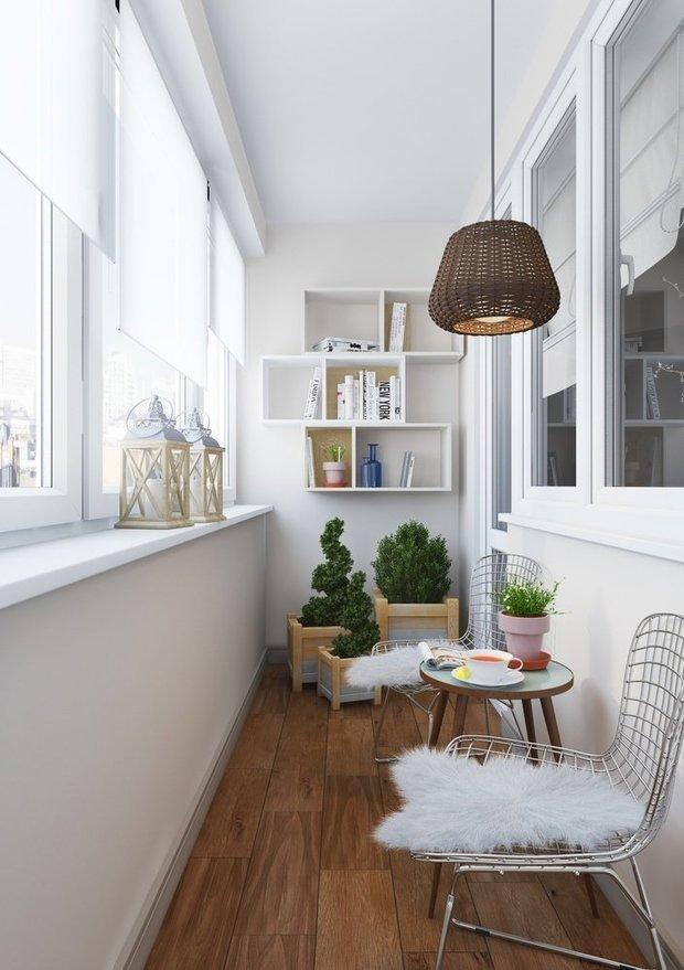 Фотография: Балкон в стиле Скандинавский,  – фото на INMYROOM