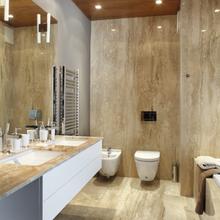 Фотография: Ванная в стиле Современный, Декор интерьера, Архитектурные объекты, Потолок – фото на InMyRoom.ru