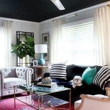 Фотография: Гостиная в стиле Кантри, Декор интерьера, Дизайн интерьера, Цвет в интерьере, Потолок – фото на InMyRoom.ru