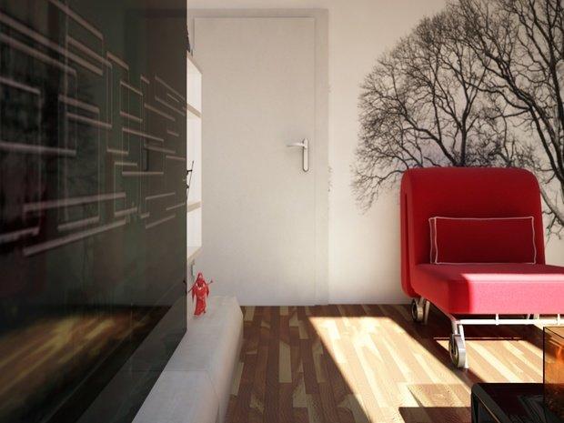 Фотография: Гостиная в стиле Скандинавский, Малогабаритная квартира, Квартира, Дома и квартиры, IKEA, Ремонт, П-111М – фото на InMyRoom.ru