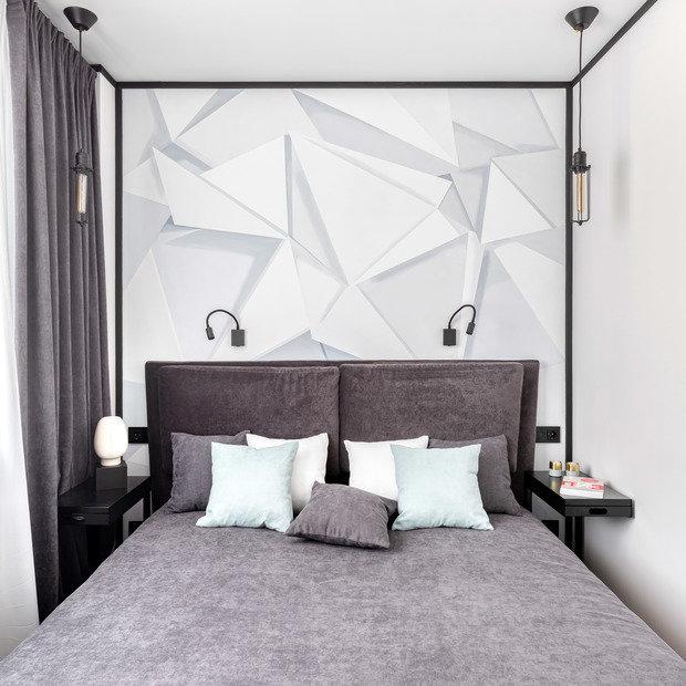 Фотография: Спальня в стиле Современный, Квартира, Проект недели, Москва, 3 комнаты, 40-60 метров, Юлия Левина – фото на INMYROOM