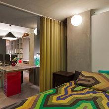 Фотография: Спальня в стиле Современный, Эклектика, Офисное пространство, Офис, Дома и квартиры, Проект недели – фото на InMyRoom.ru