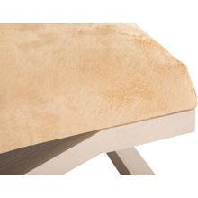 Банкетка из дерева и кожи