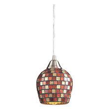 Светильник (Люстра)  Satin Nickel / Multi Color  Mosaic