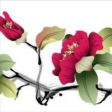 """Декоративная картина """"Китайские цветы"""""""