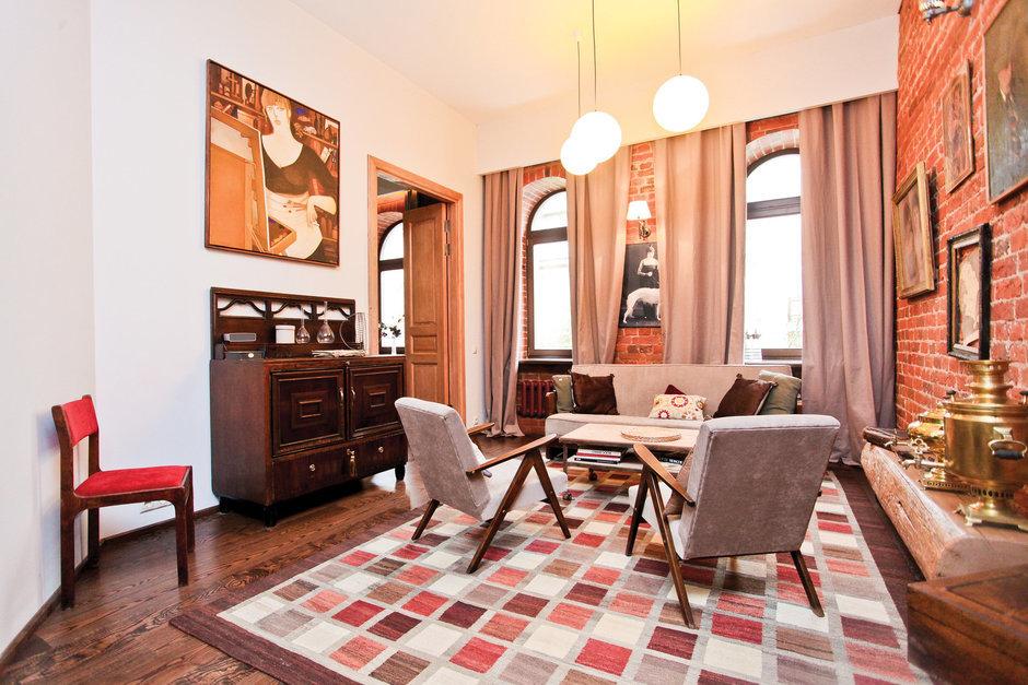 Фотография: Гостиная в стиле Лофт, Декор интерьера, Дом, Дома и квартиры, Стена – фото на InMyRoom.ru