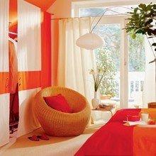 Фотография: Спальня в стиле Современный, Декор интерьера, Дизайн интерьера, Цвет в интерьере, Оранжевый – фото на InMyRoom.ru