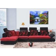 Декоративная картина на холсте: Радужные краски
