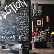 Фотография: Гостиная в стиле Эклектика, Квартира, Цвет в интерьере, Дома и квартиры, IKEA, Лондон, Черный, Поп-арт – фото на InMyRoom.ru