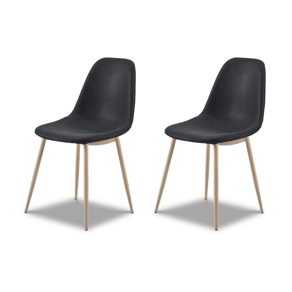 Купить Комплект из двух стульев Cowboy в темно-серой ткани, inmyroom, Китай